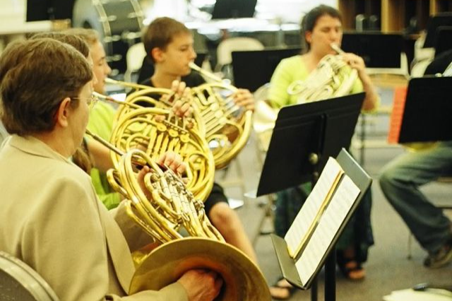 playing french horns
