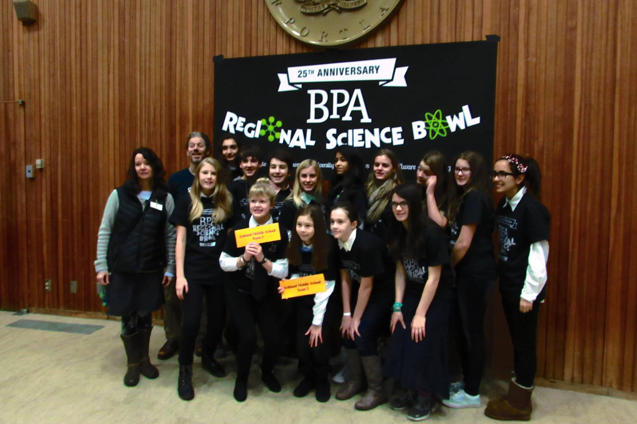group of students at science bowl