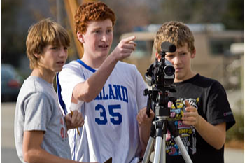 students video taping