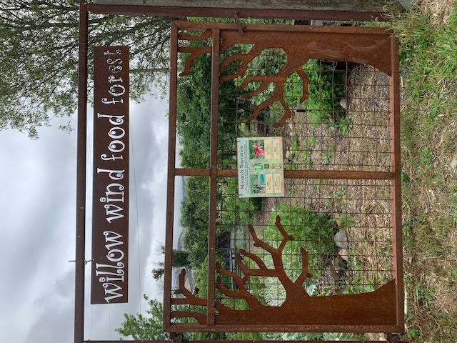 willow wind food forest sign
