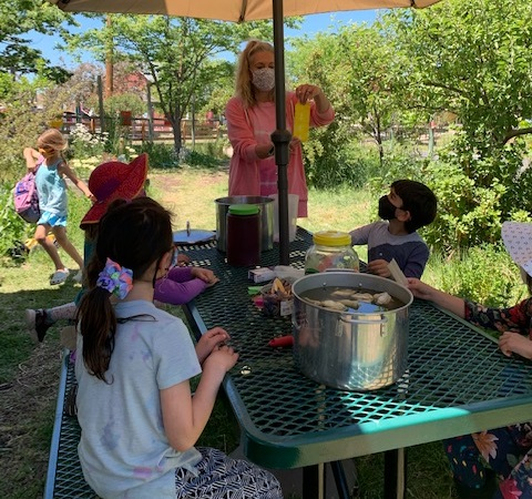 table outdoor learning