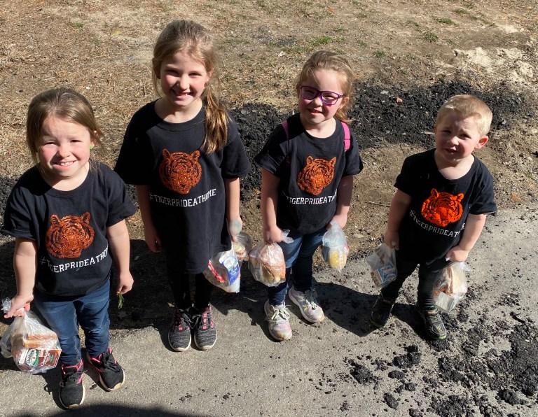 Kids at Distribution