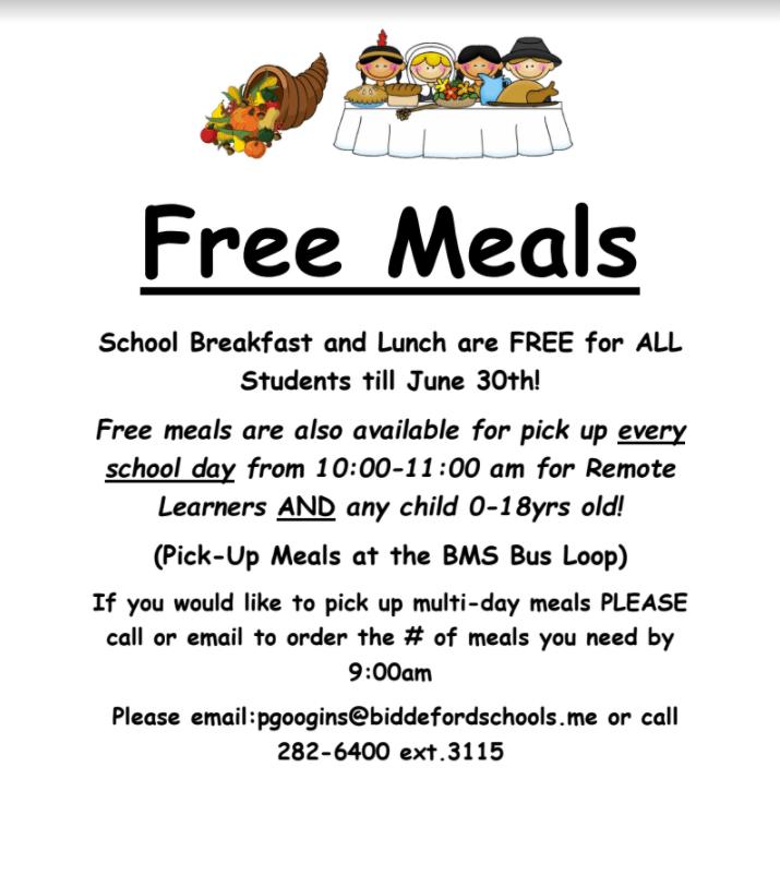 Free Meals Information Flyer