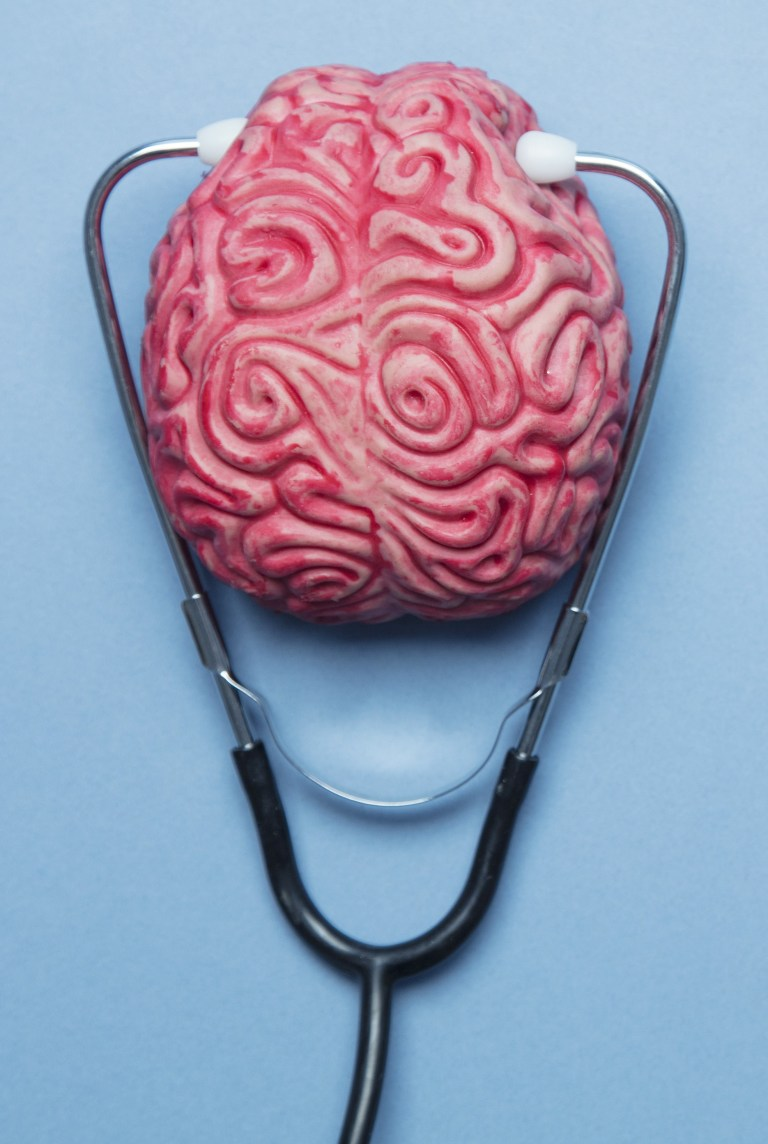 Brain with stetoscope