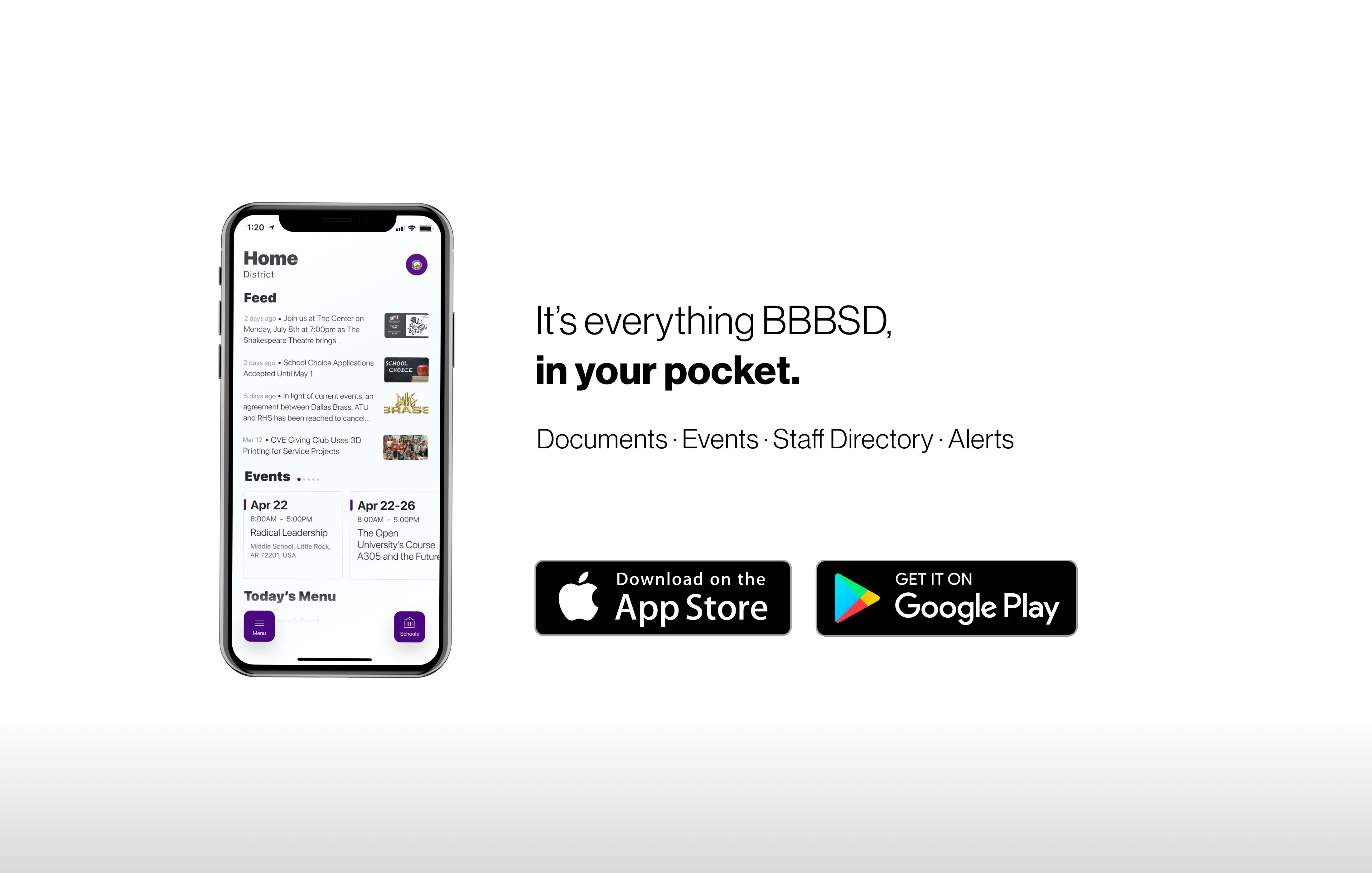 Download the new school app