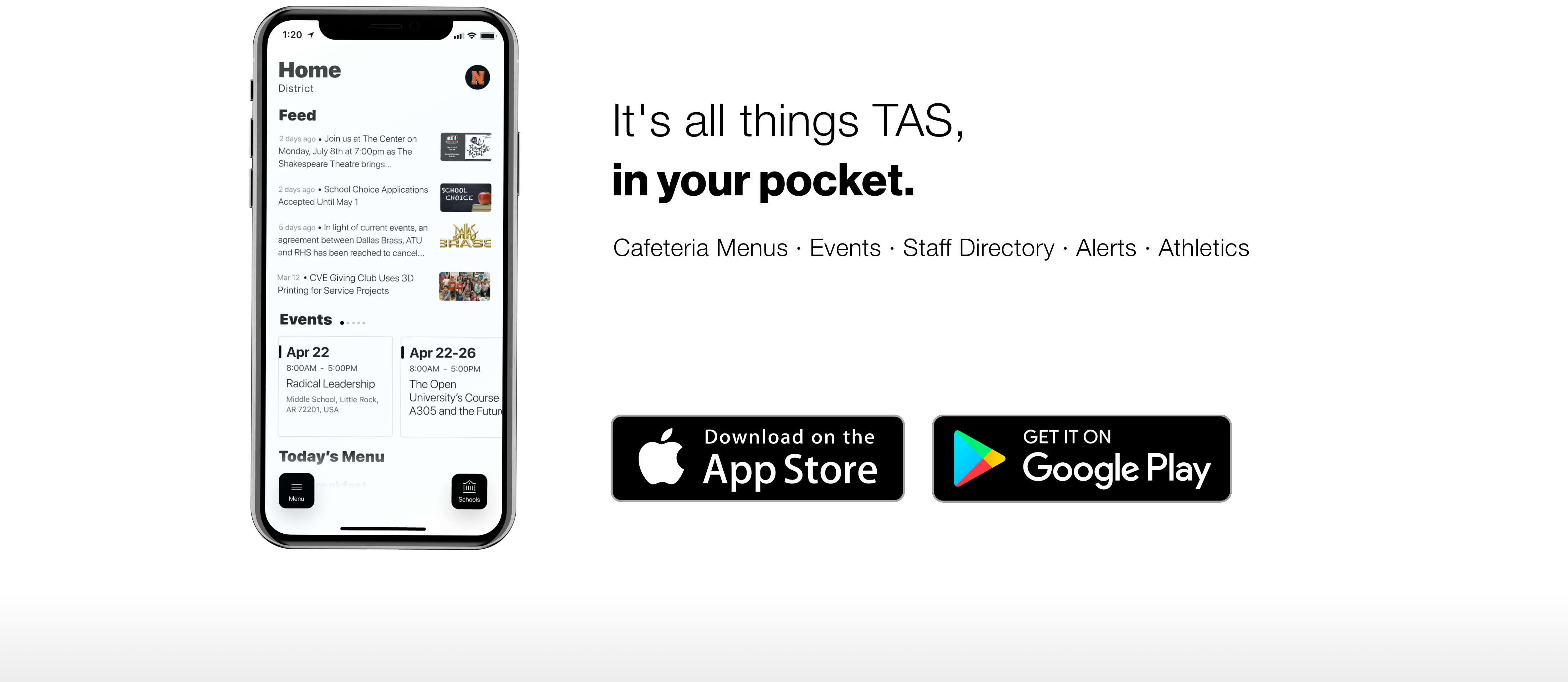 It's all things TAS, in your pocket.