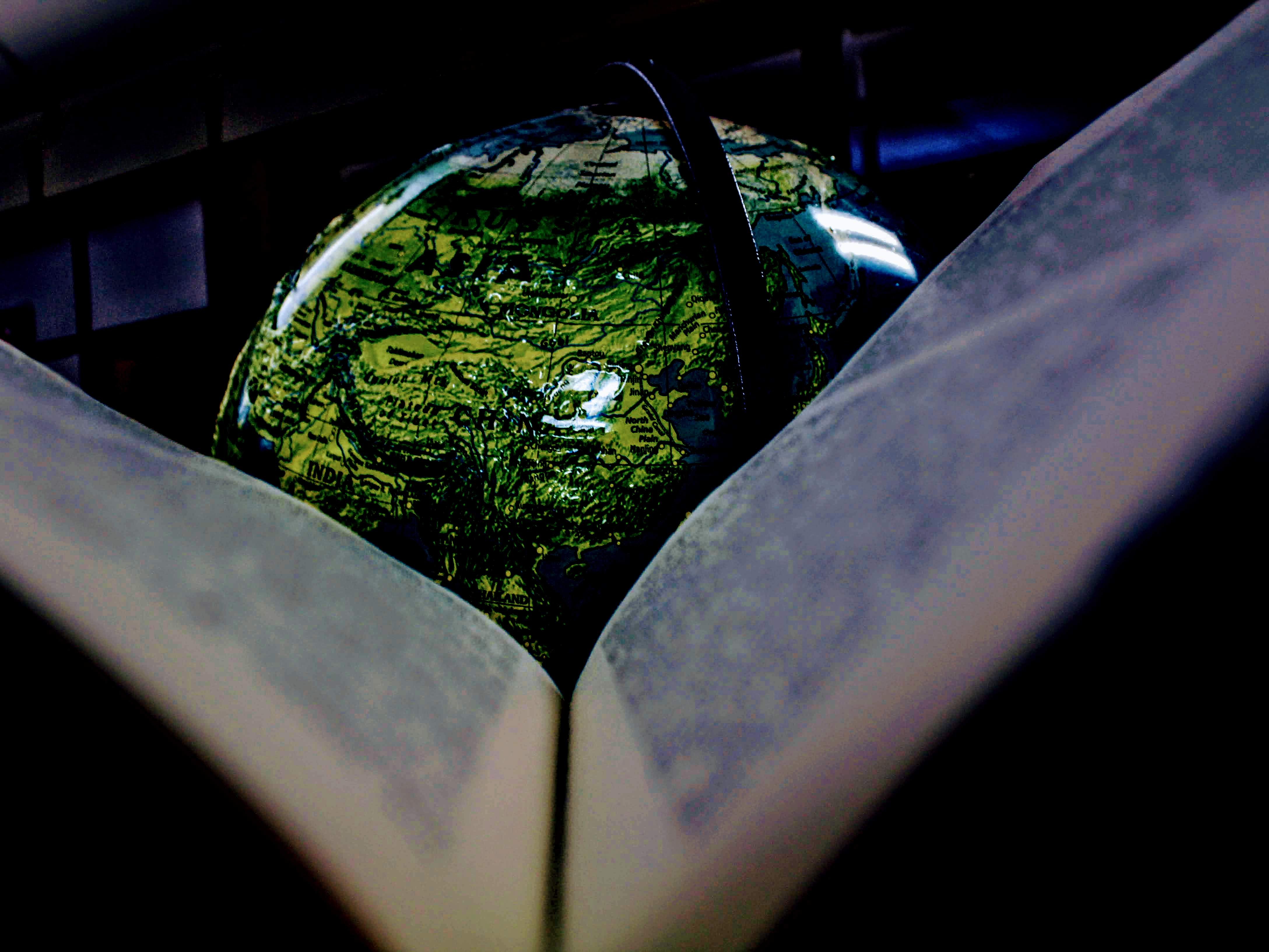 Intro to Photography Globe and Book Picture