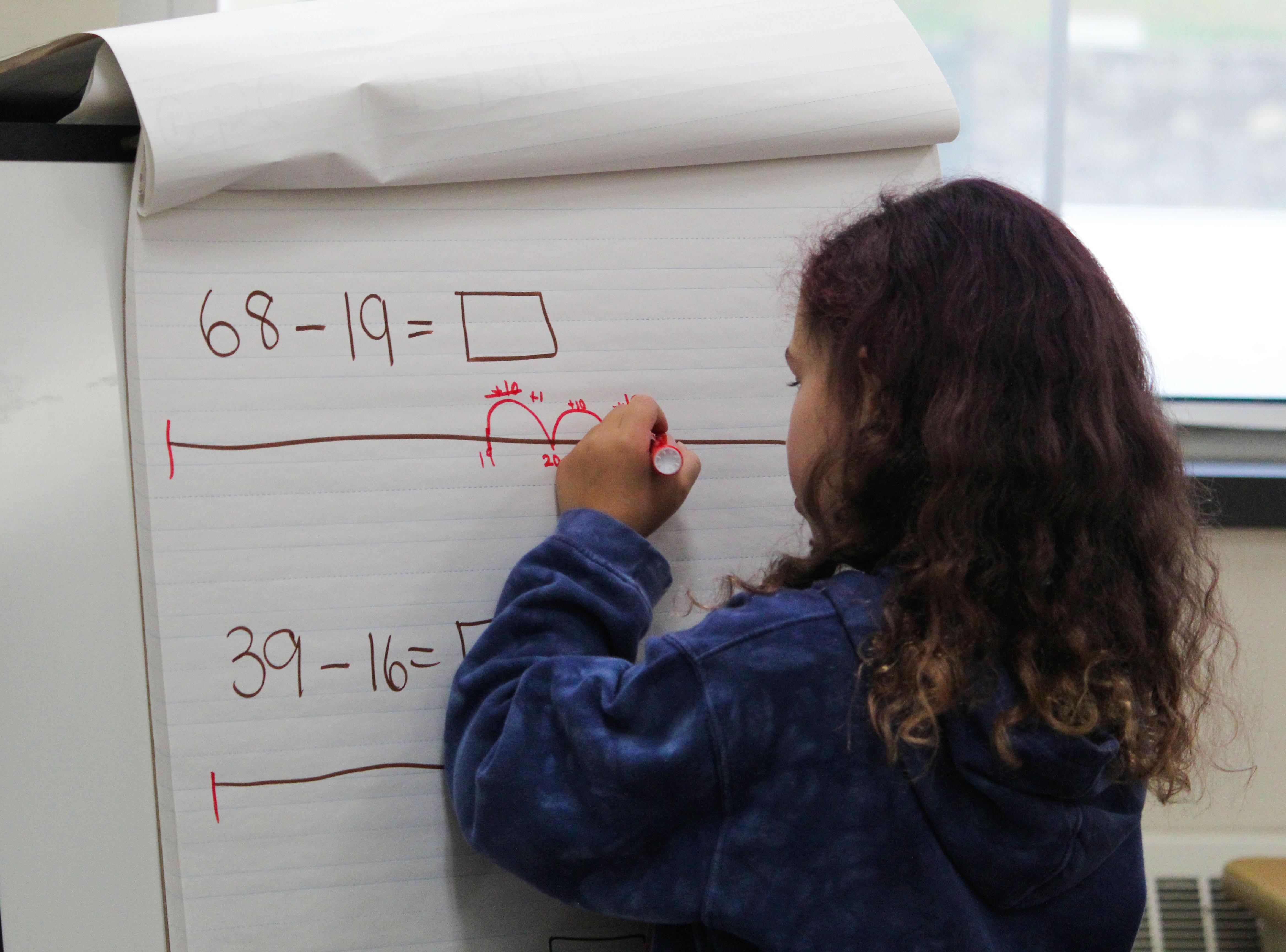 Girl Doing Math Equation