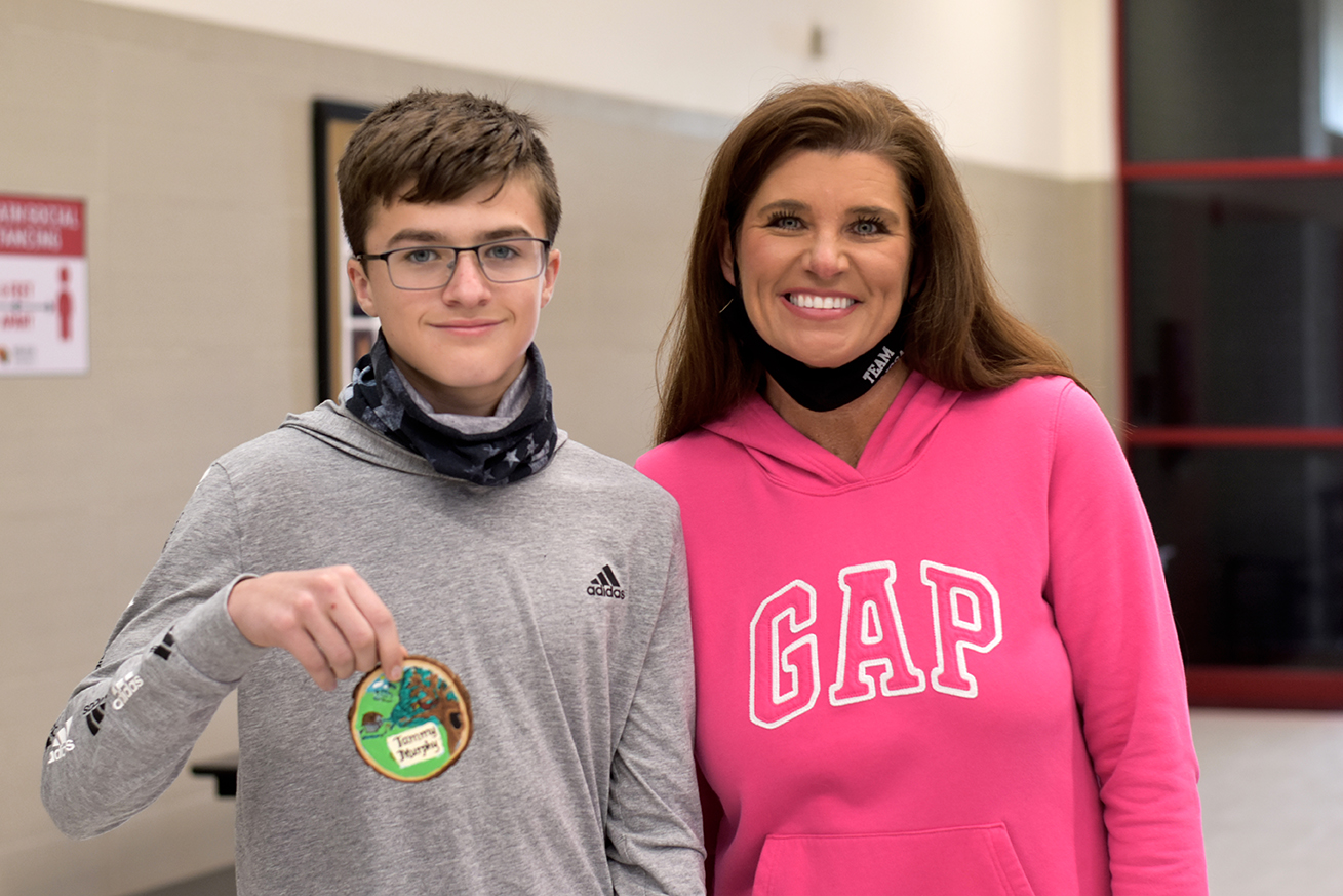 Tammy Murphy with student