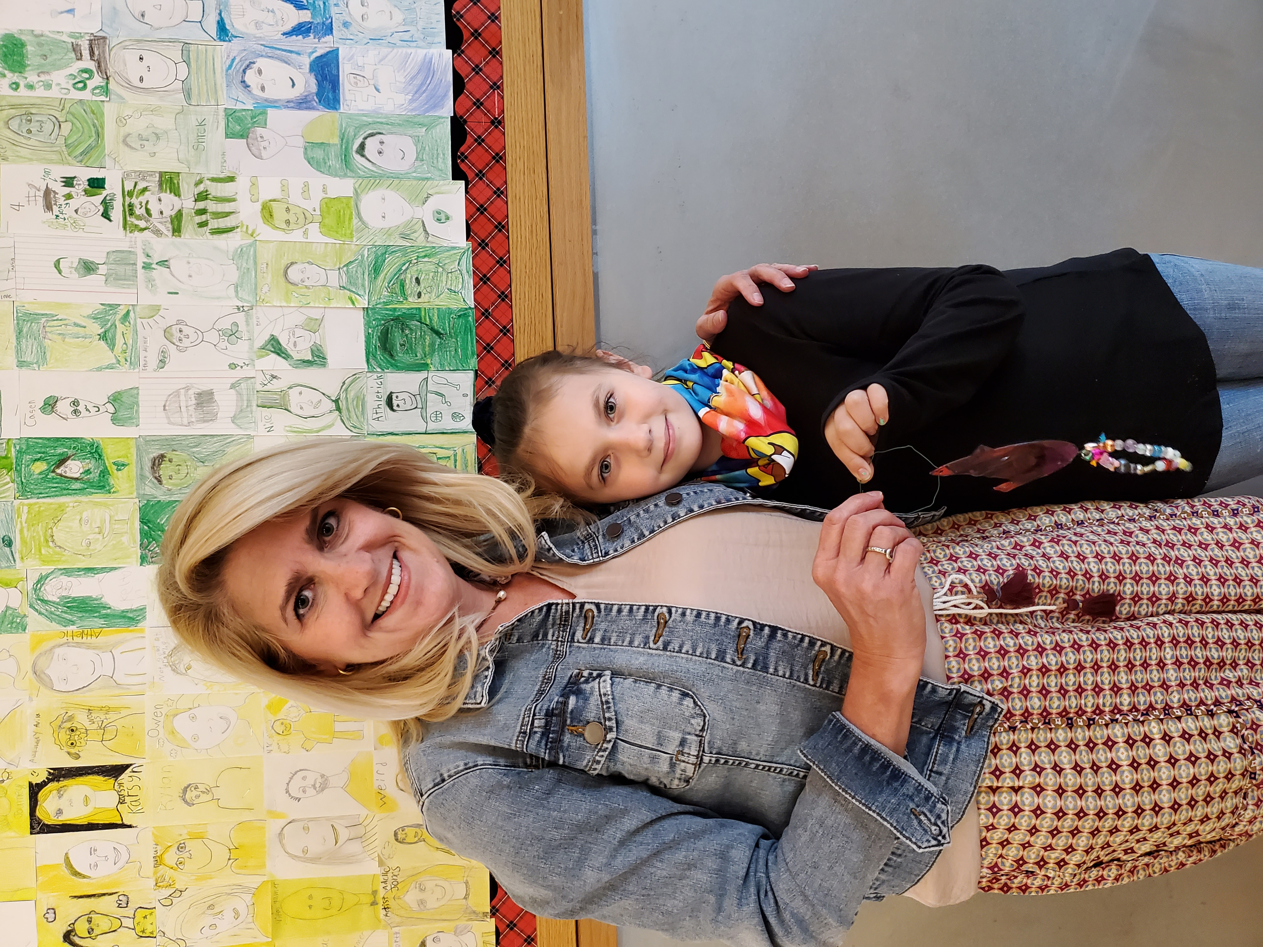 Alex Eichel with student