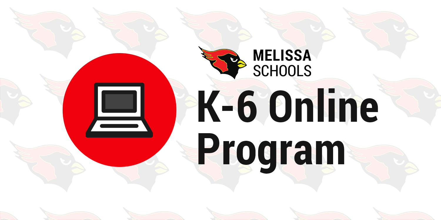 a decorative graphic to advertise the K-6 Online Program