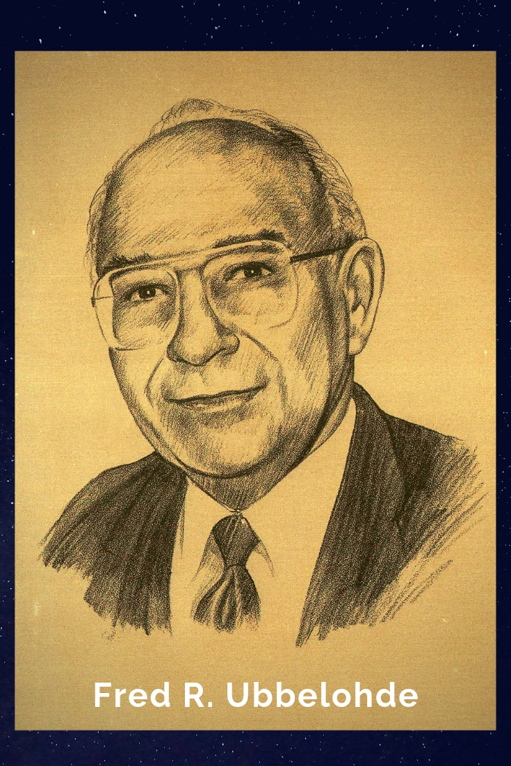 Drawing Portrait Recreation of Fred R. Ubbelohde