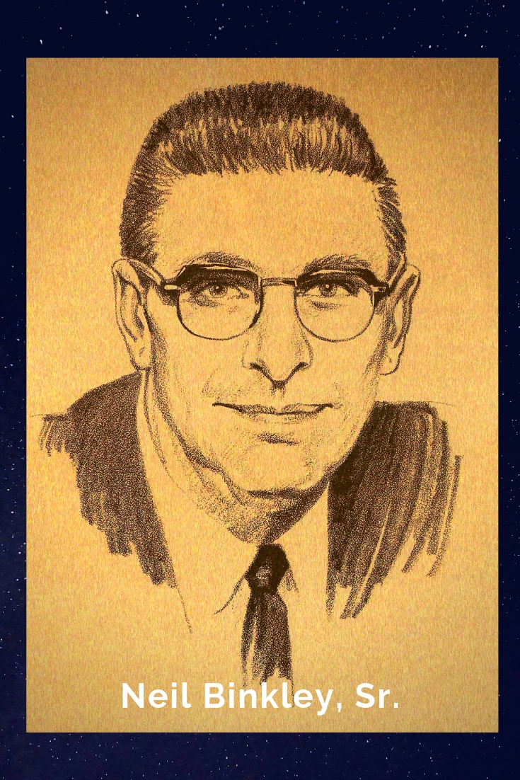 Drawing Portrait Recreation of Neil Binkley, Sr.