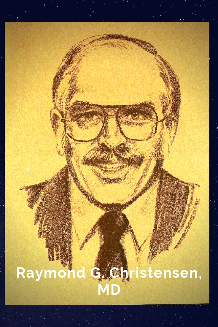 Drawing Portrait Recreation of Raymond G. Christensen, MD