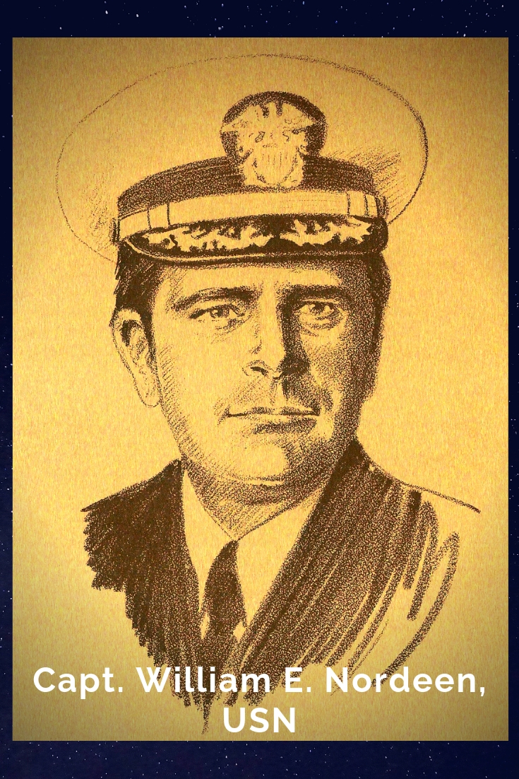 Drawing Portrait Recreation of Capt. William E. Nordeen, USN