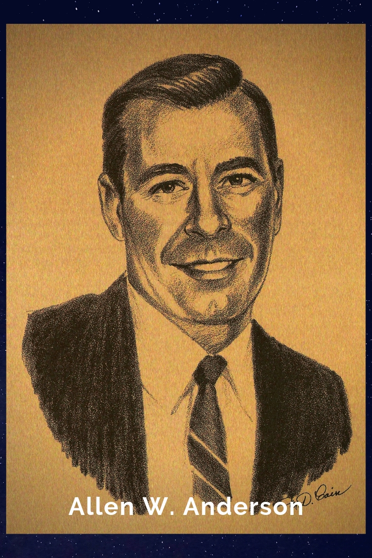 Drawing Portrait Recreation of Allen W. Anderson