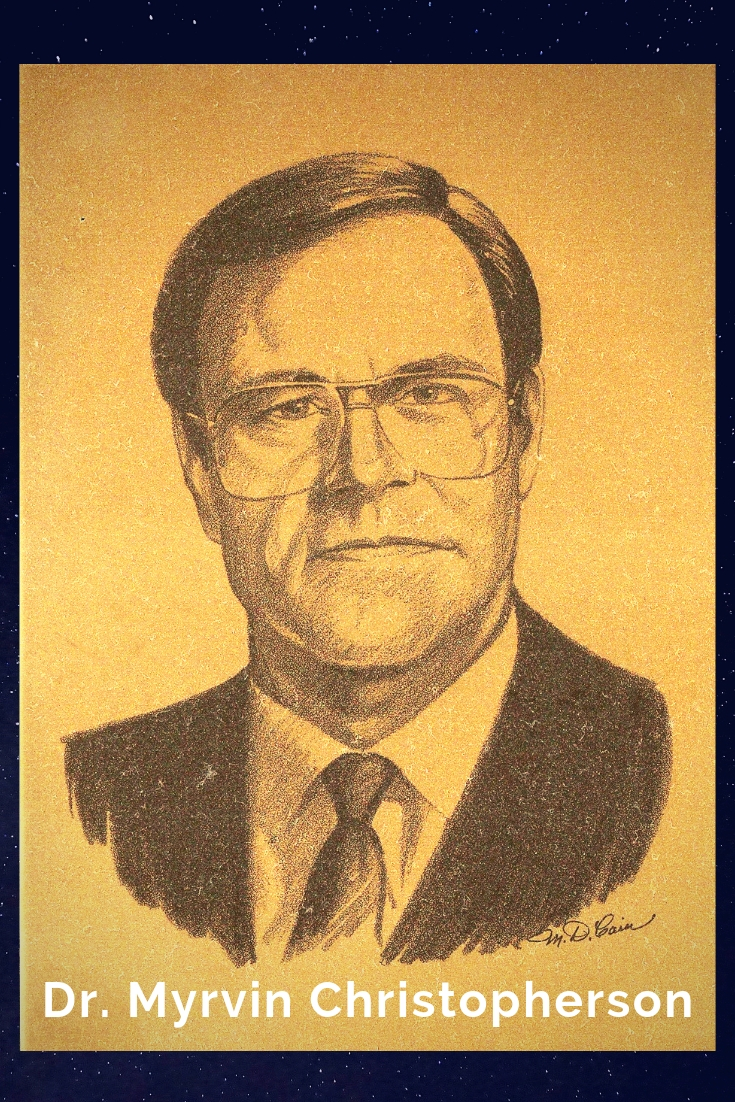 Drawing Portrait Recreation of Dr. Myrvin Christopherson