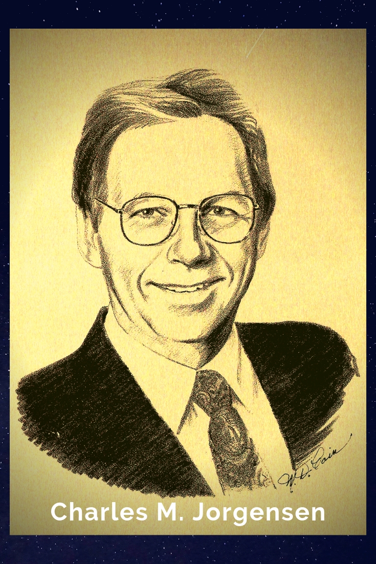 Drawing Portrait Recreation of Charles M. Jorgensen