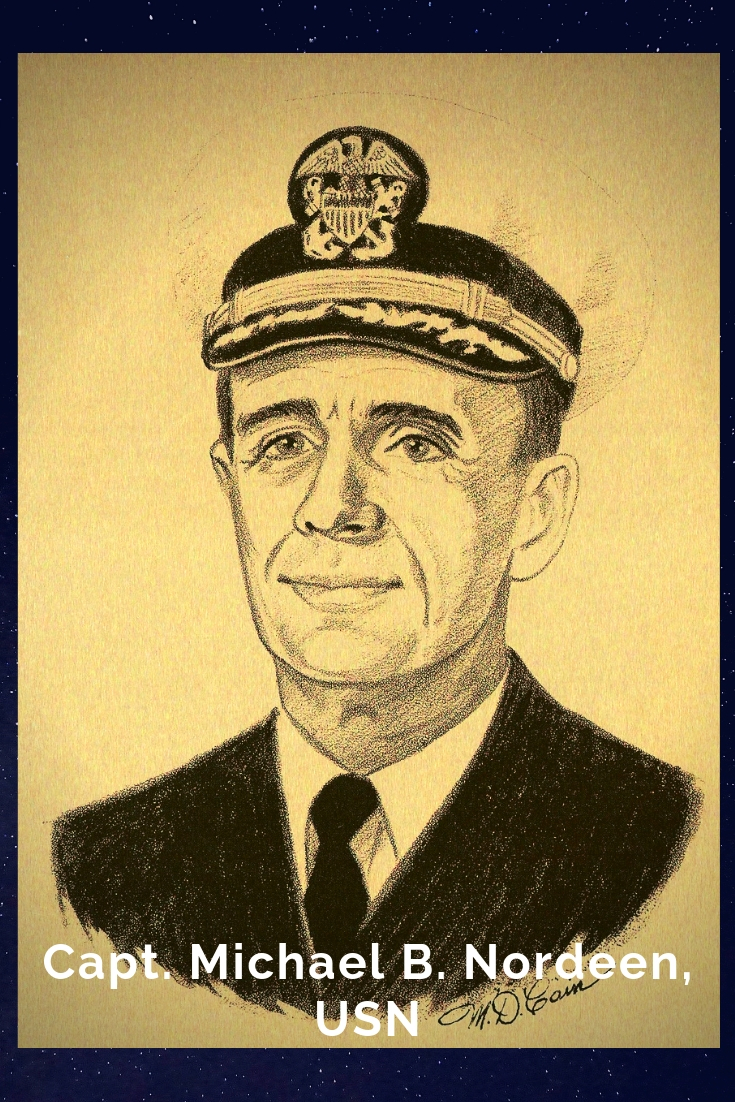 Drawing Portrait Recreation of Capt. Michael B. Nordeen, USN