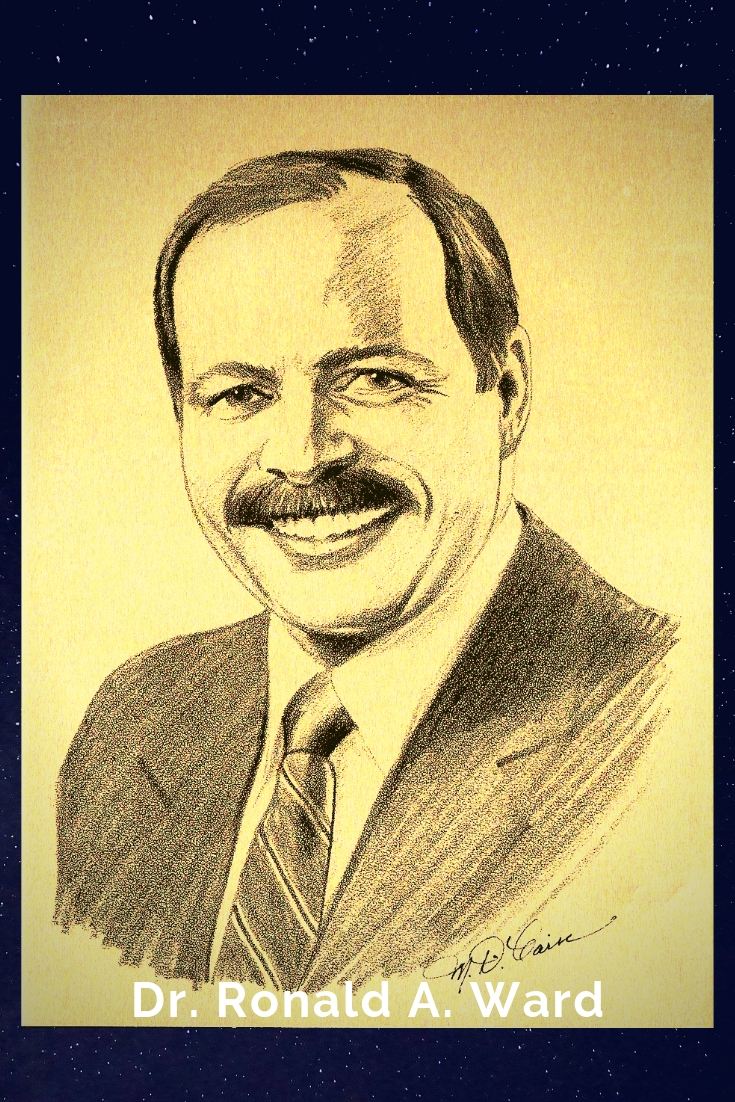 Drawing Portrait Recreation of Dr. Ronald A. Ward