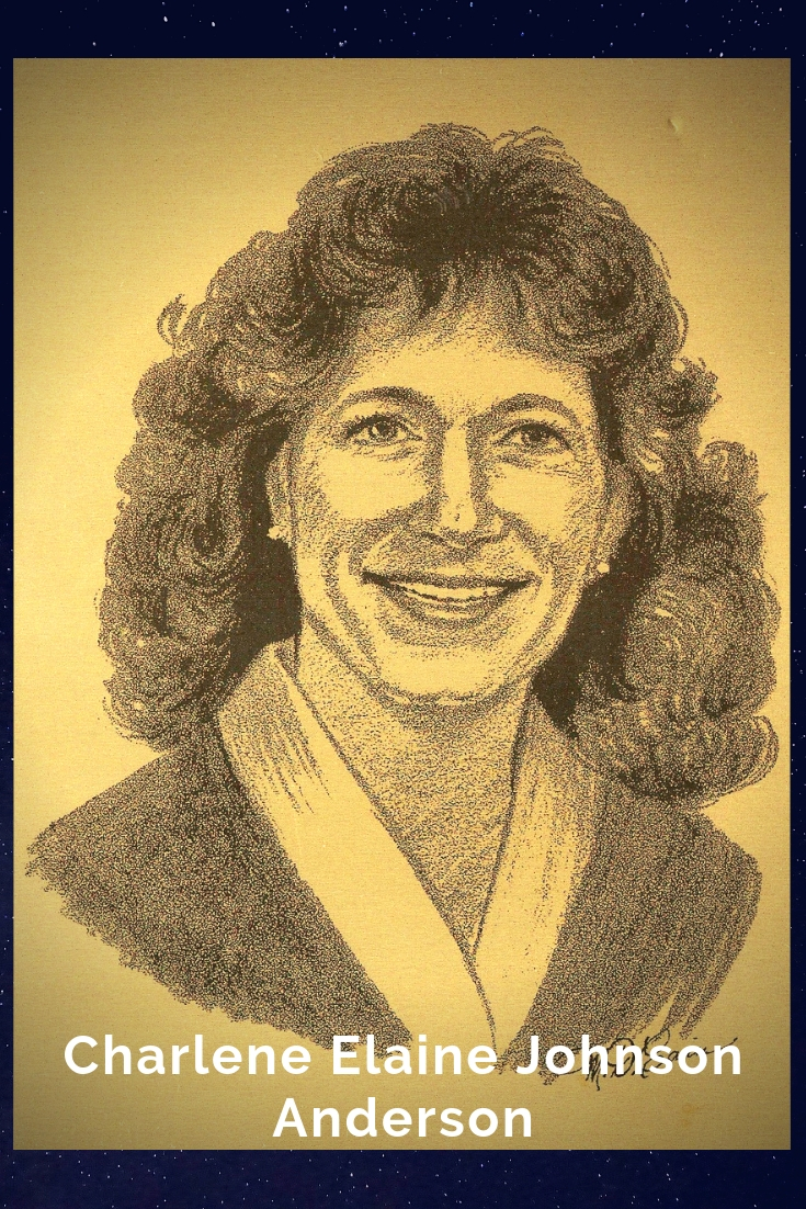 Drawing Portrait Recreation of Charlene Elaine Johnson Anderson