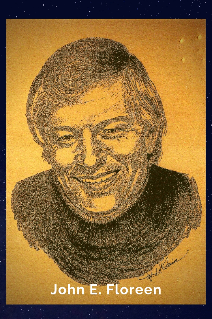 Drawing Portrait Recreation of John E. Floreen