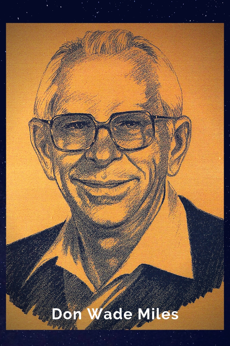Drawing Portrait Recreation of Don Wade Miles