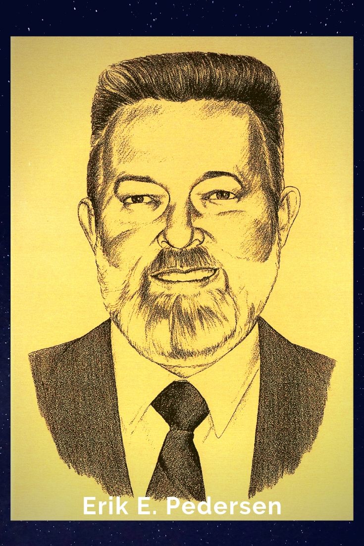 Drawing Portrait Recreation of Erik E. Pedersen