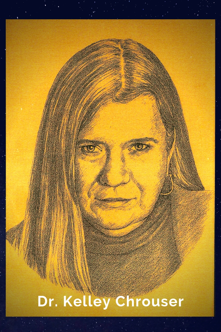 Drawing Portrait Recreation of Dr. Kelly Chrouser