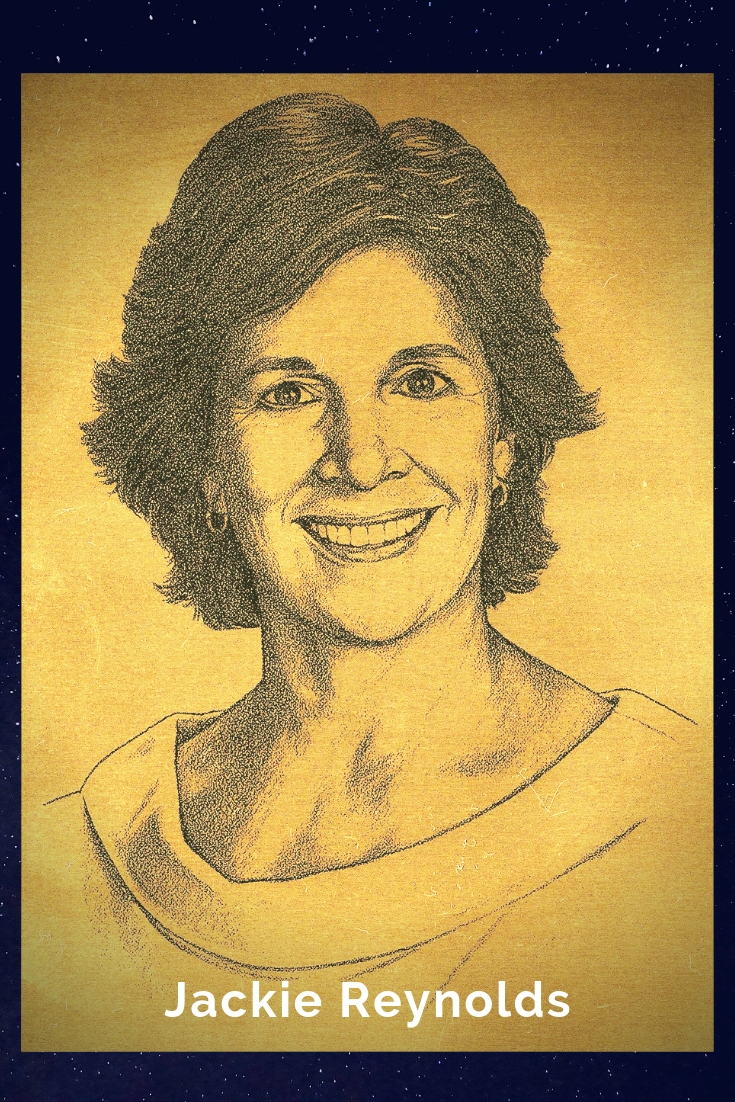 Drawing Portrait Recreation of Jackie Reynolds