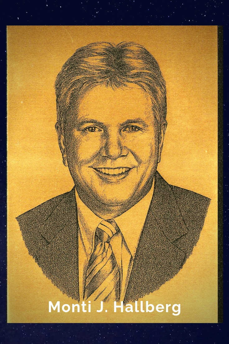 Drawing Portrait Recreation of Monti J. Hallberg