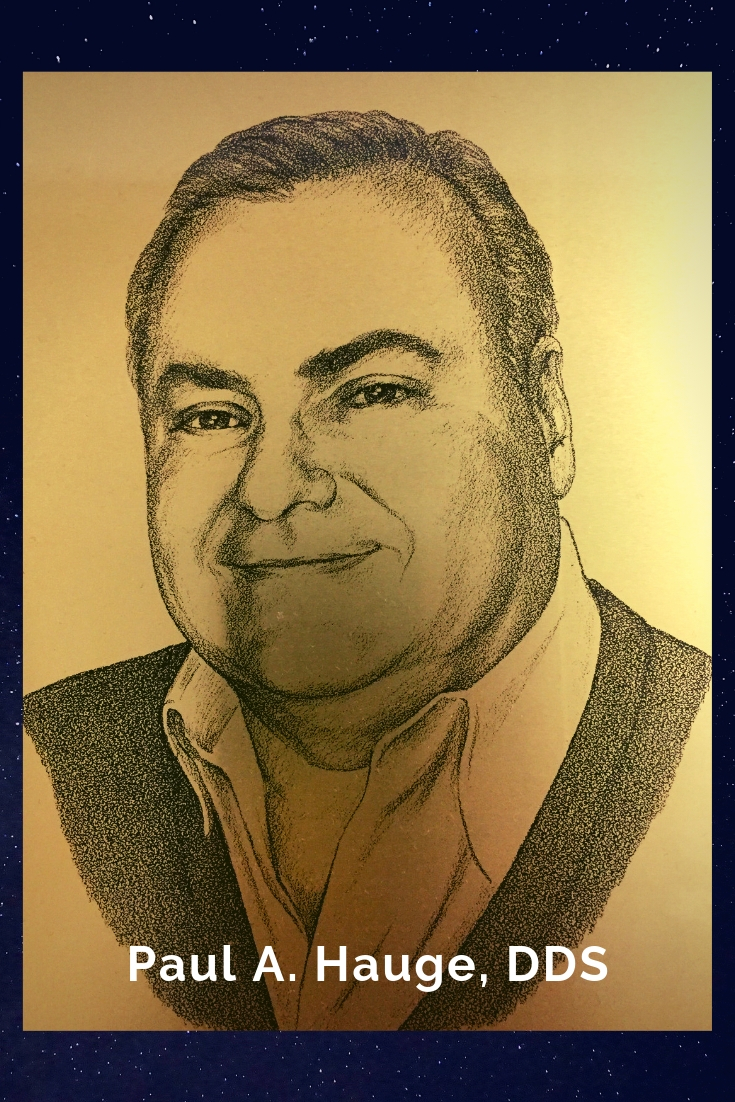 Drawing Portrait Recreation of Paul A. Hauge, DDS