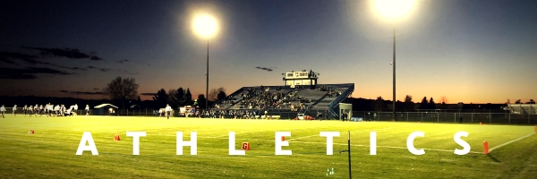 "photo of a football field that says ""athletics"""