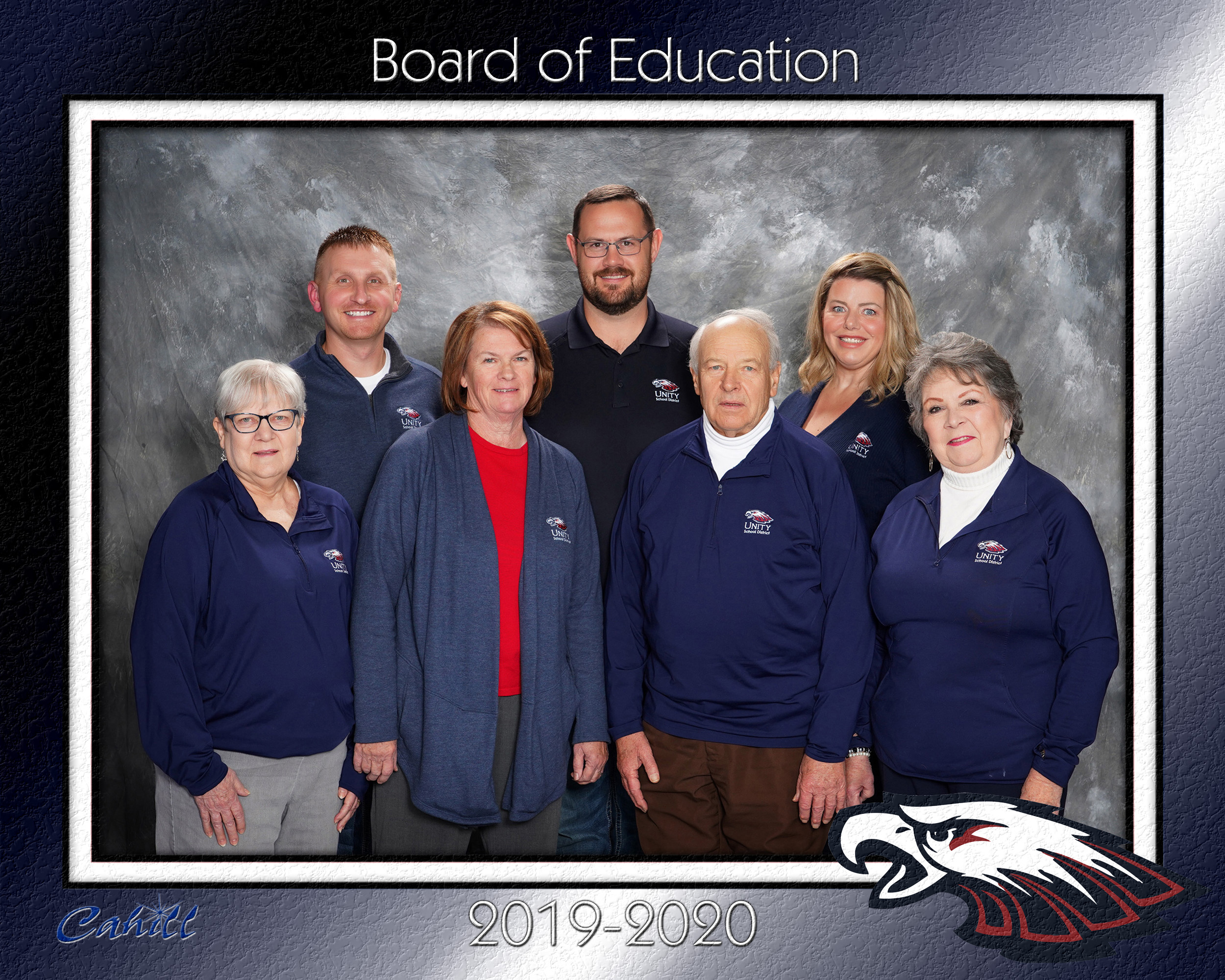 photo of the members of the board of education