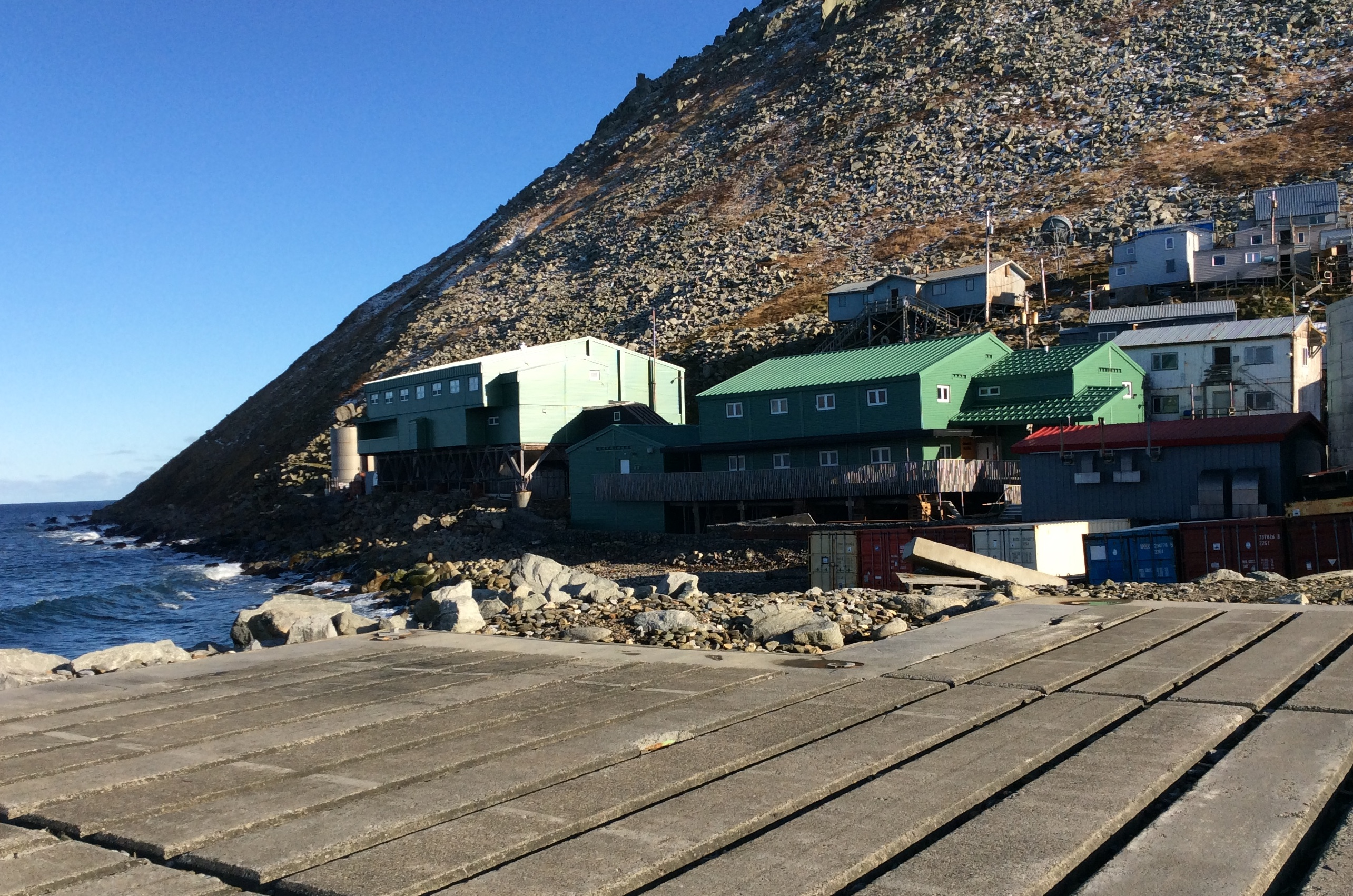 Diomede School view from helicopter pad