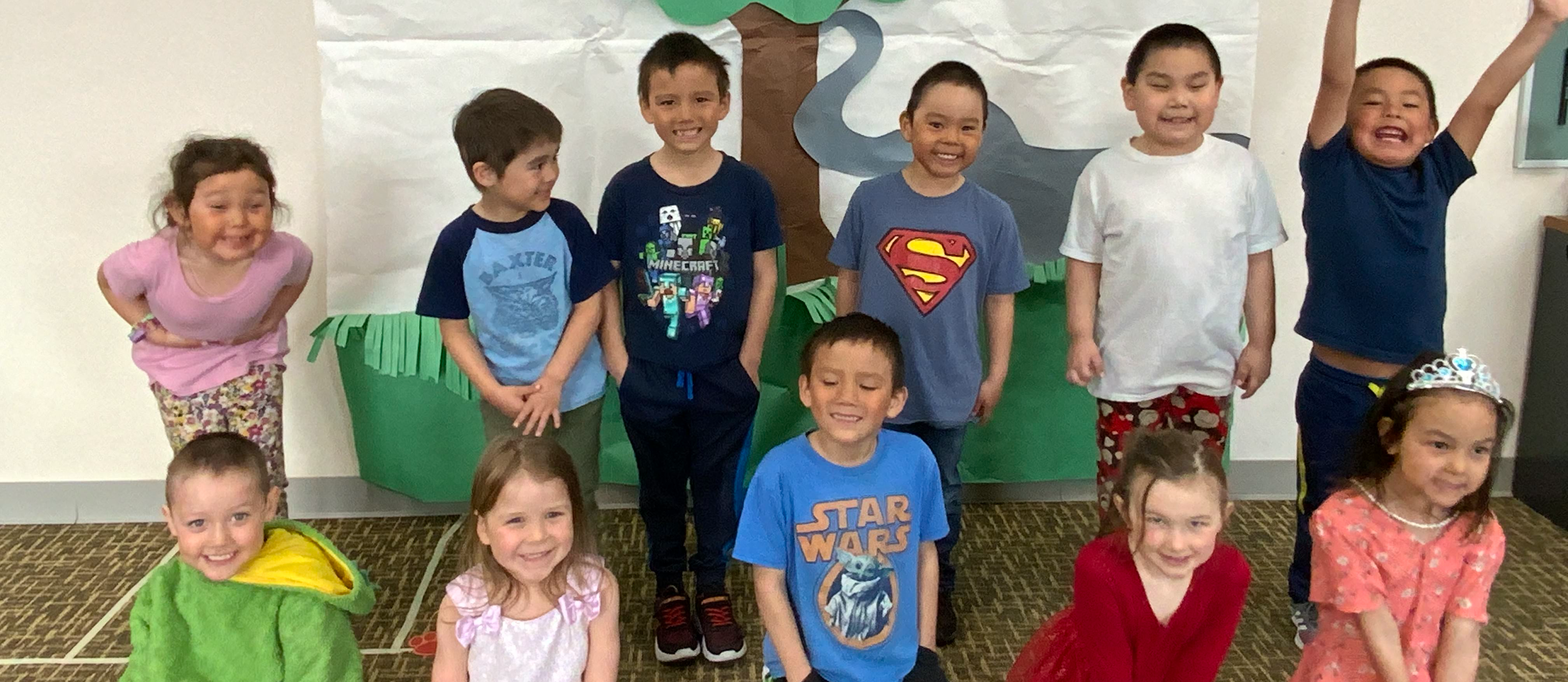 ECE 4-year-olds performing spring concert