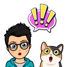 Kid and Cat bitmoji