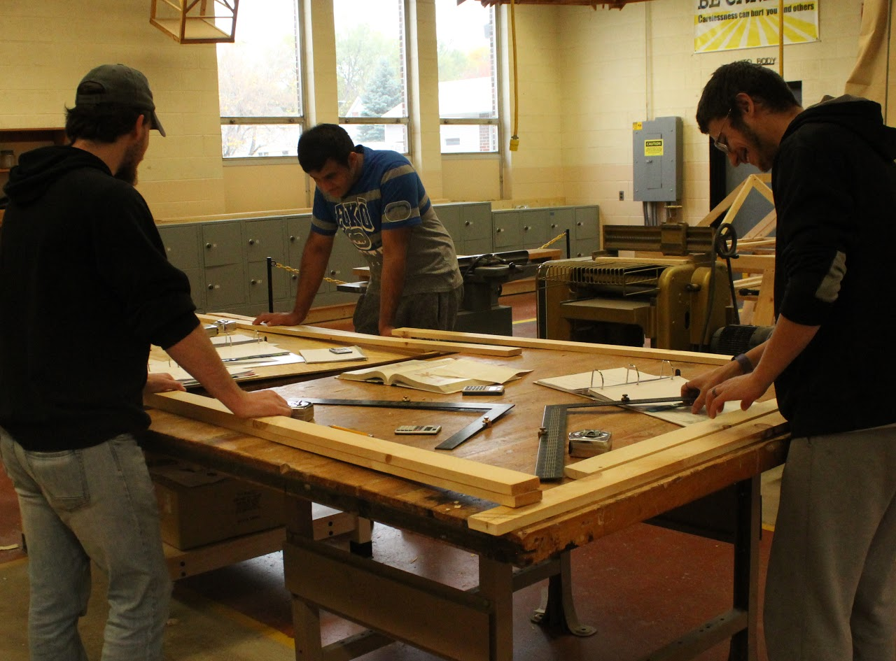 Residential Carpentry Students Working