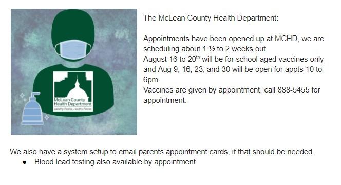 MCHD immunizations