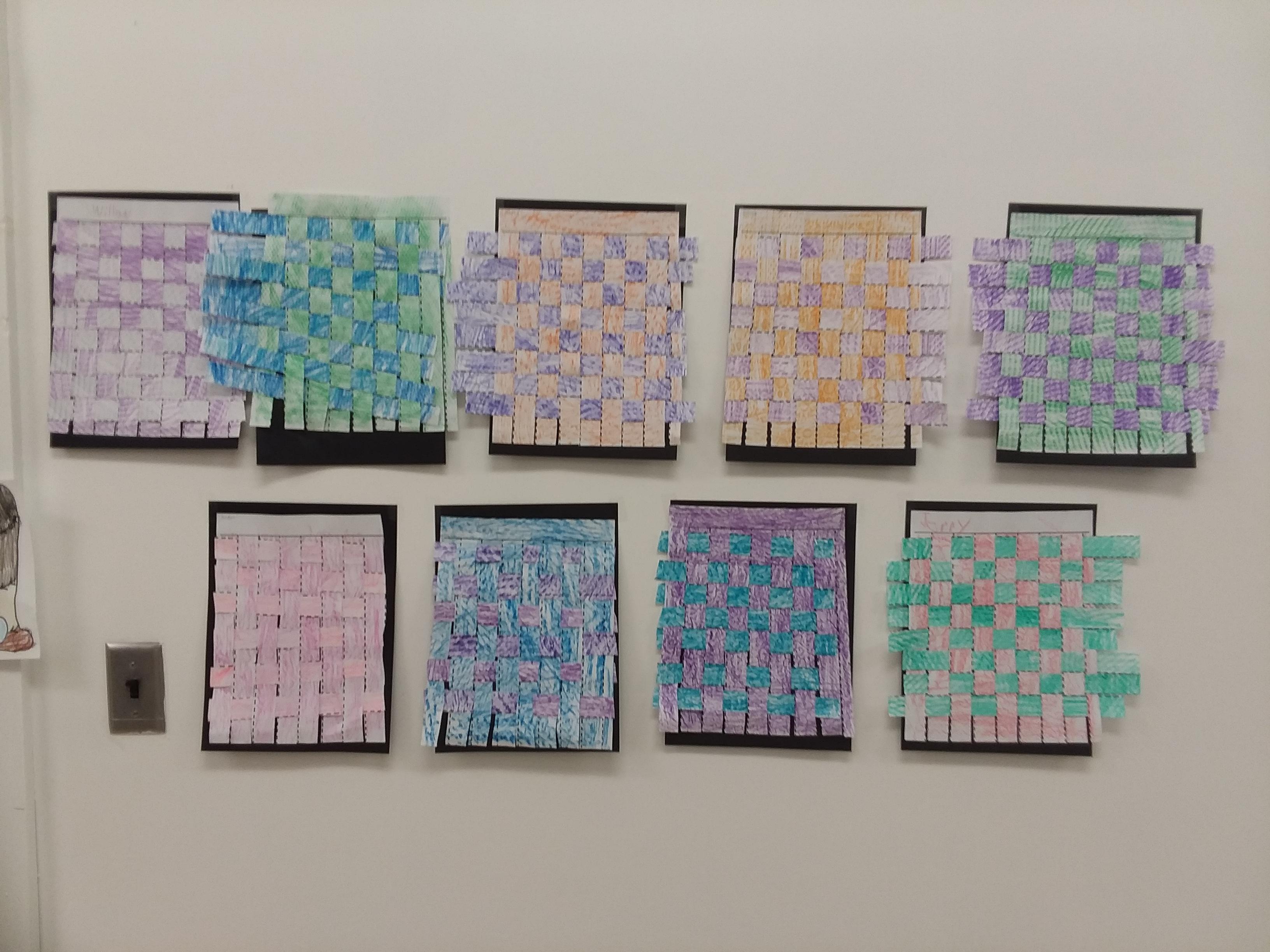 2nd Grade Textured Weavings