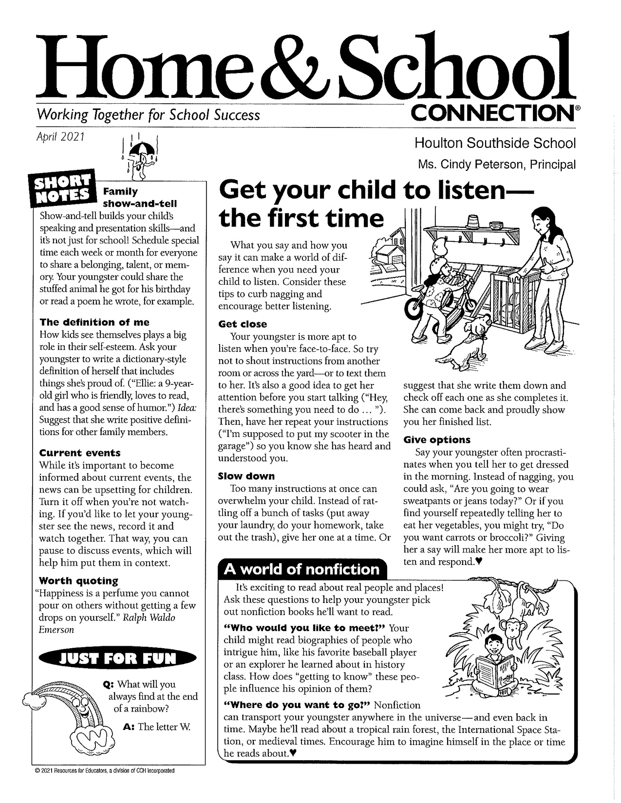 Home and School Newsletter