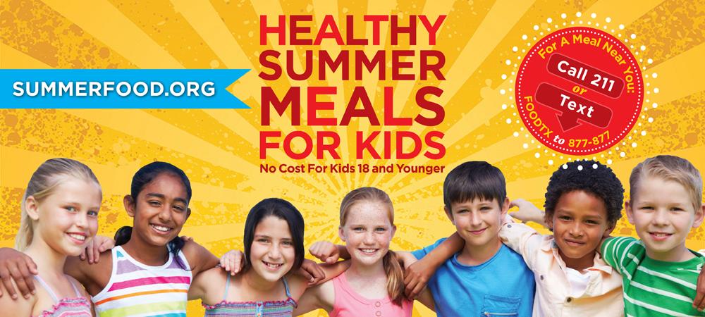 Summer meals for kids banner