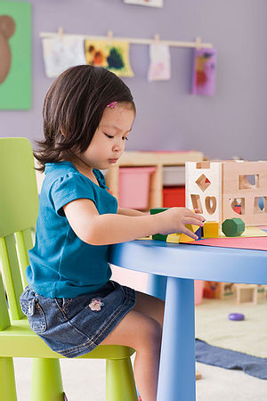 Playing in Nursery