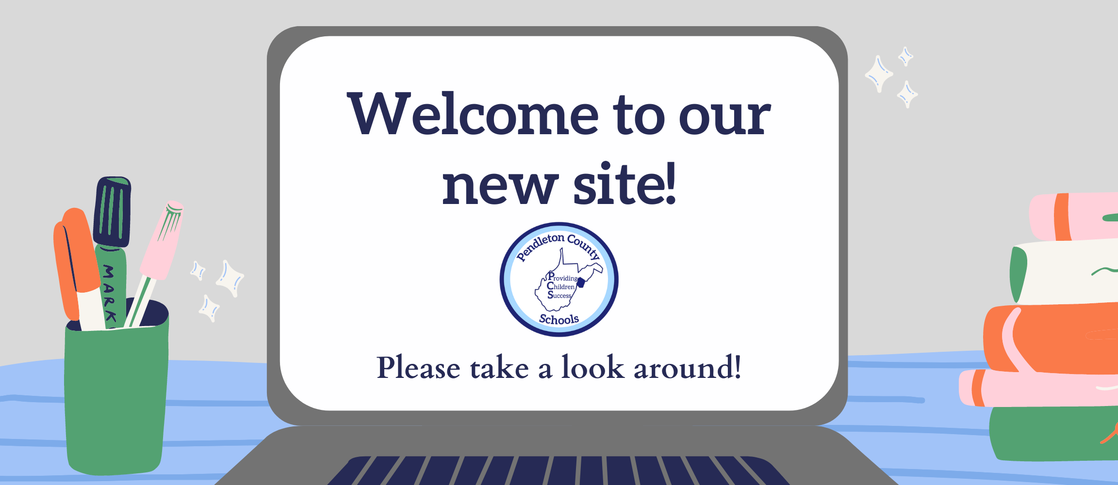 Welcome to our new site-image of computer