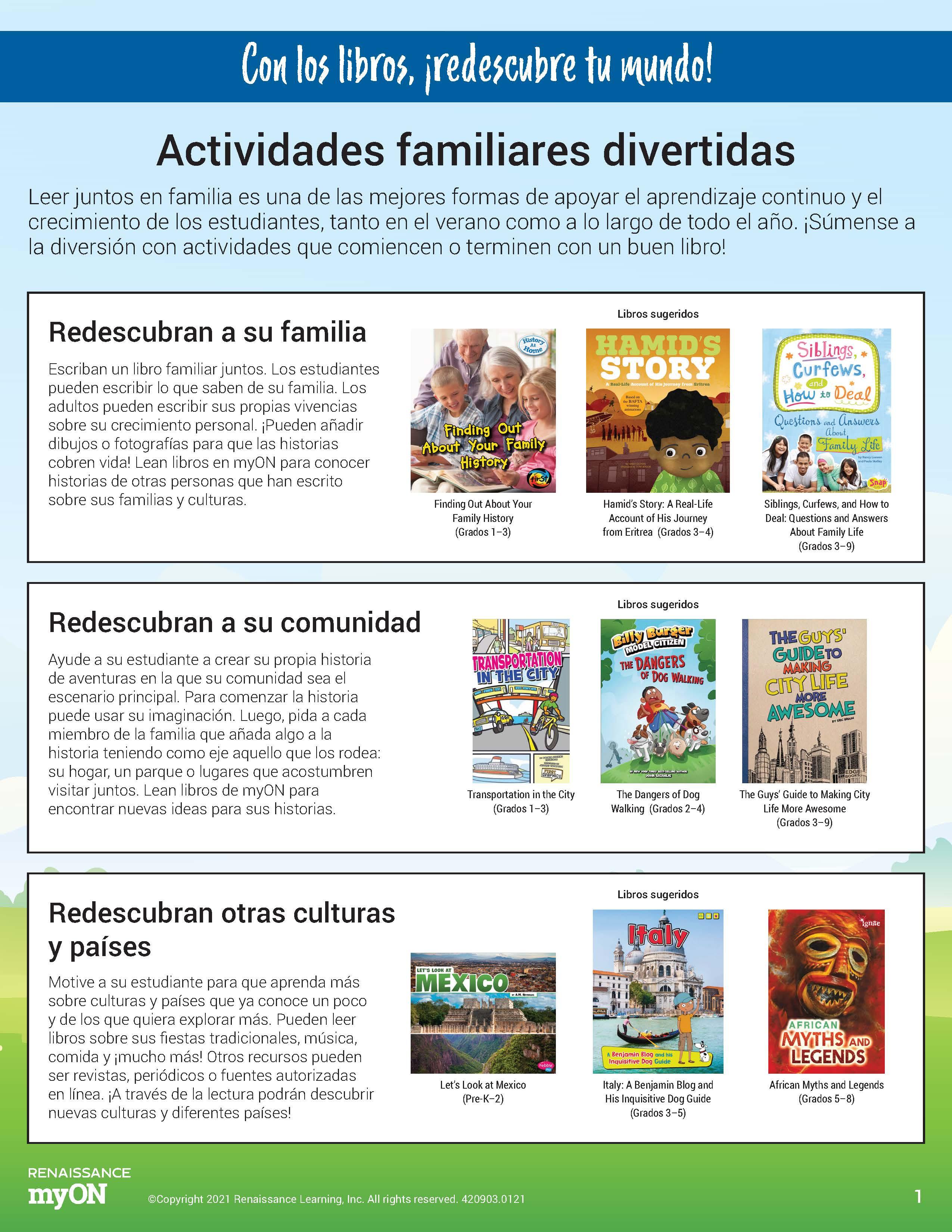 Family Activity Spanish 1