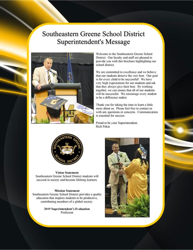 Southeastern Greene School District Superintendent's Message