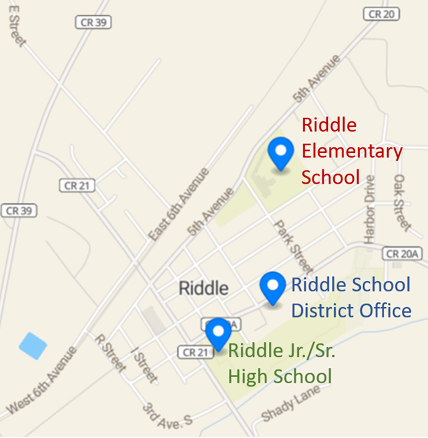 Map of Riddle Schools