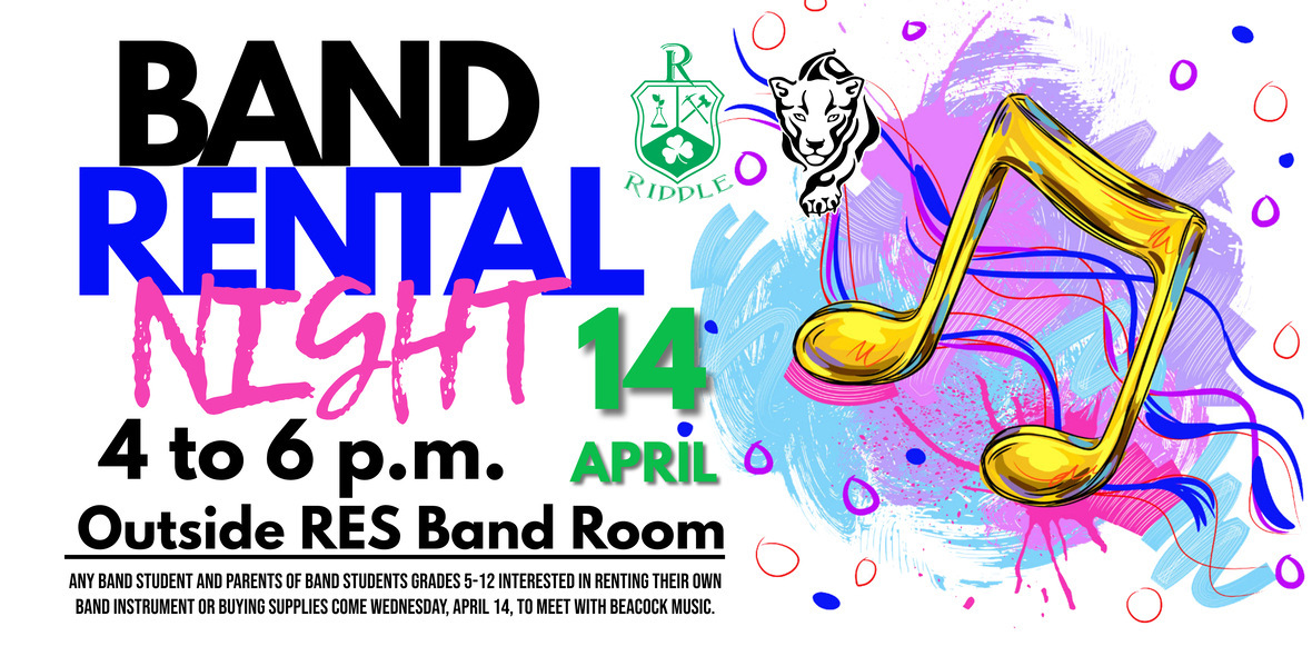 Band Rental Night April 14 from4 to 6 p.m. at RES