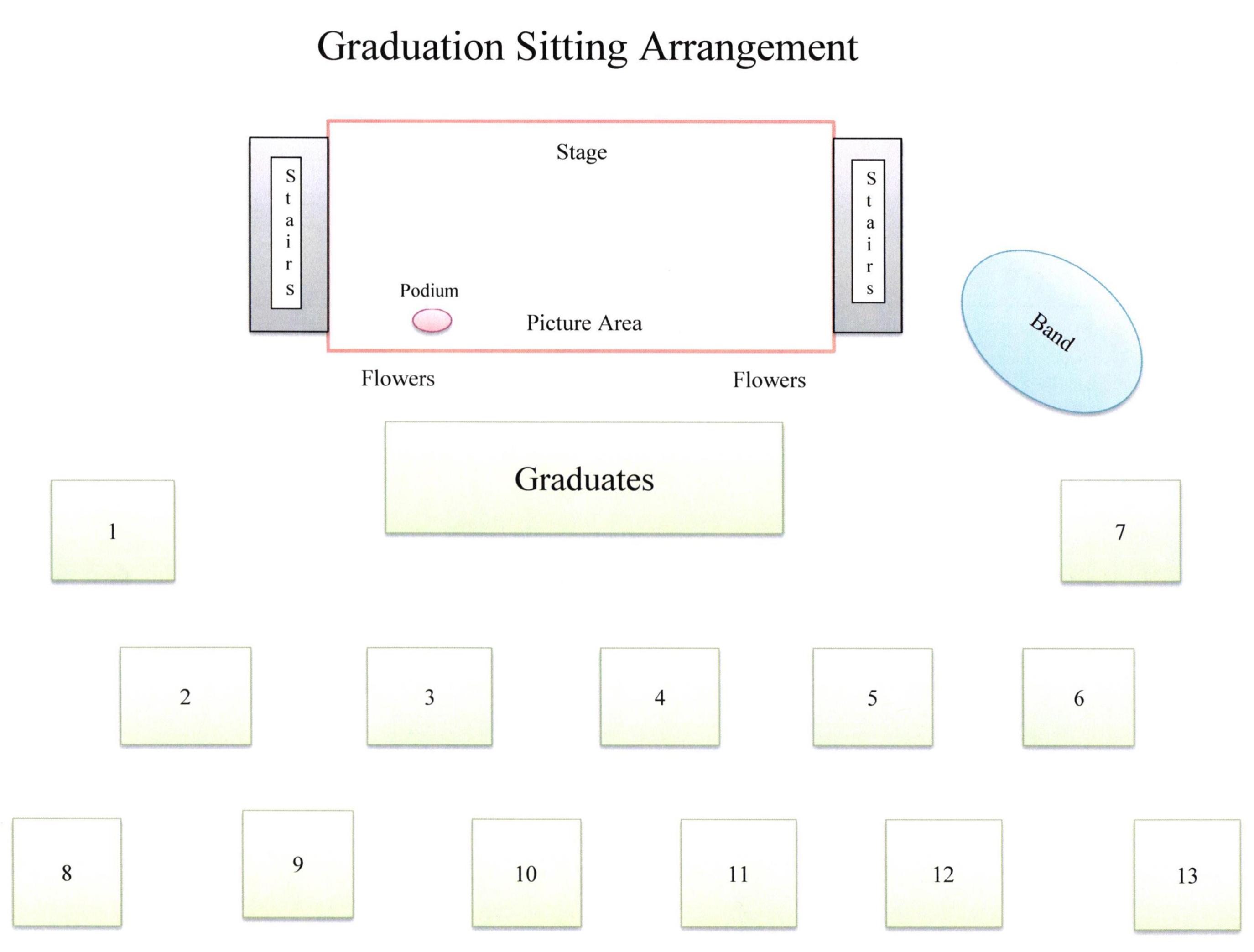 Graduation Seating Arrangement for June 12