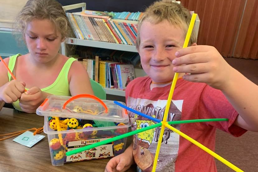 Students enjoy builders workshop using a variety of materials